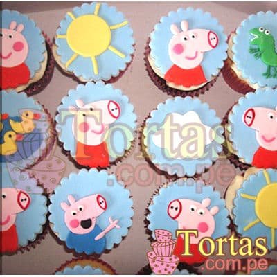Cupcakes con Tema Peppa Pig  - Whatsapp: 980-660044