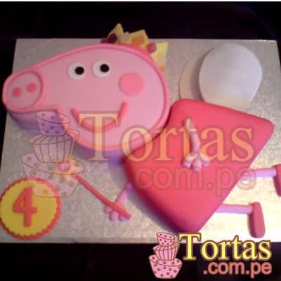 Tortas de Peppa | Torta Peppa Pig Cerdita - Cod:TPE07