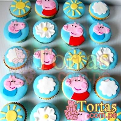 Cupcakes Peppa Pig | Tortas Pepa Pig - Cod:TPE08