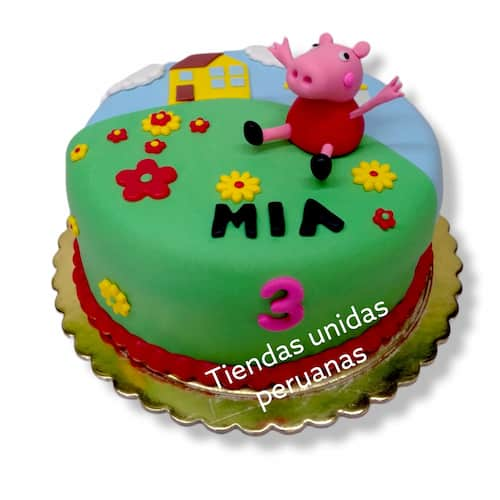 Tortas de Peppa | Torta de Peppa Pig - Cod:TPE09