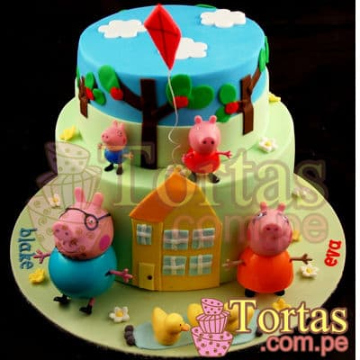 Torta Peppa Pig- Whatsapp: 980-660044