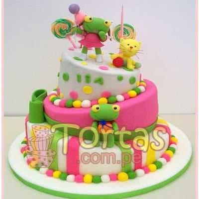 Torta con tematica Sapo Pepe y Sapa Pepa- Whatsapp: 980-660044