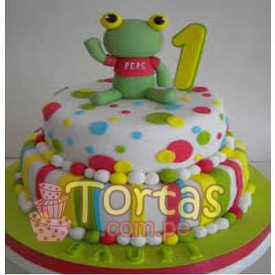 Torta Sapo Pepe para niños - Cod:TPP10