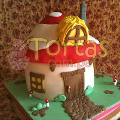 Torta Casa Pitufos - Cod:TPU02