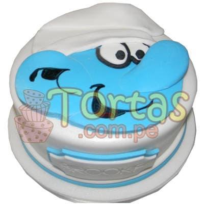 Torta cara de Pitufo - Cod:TPU04