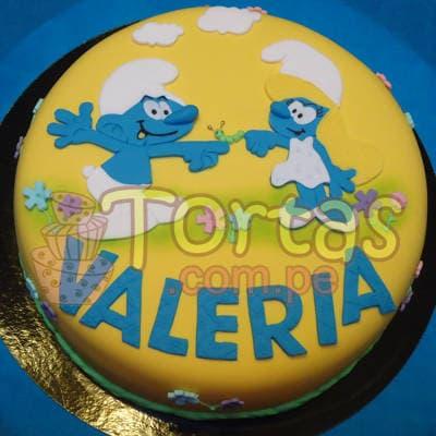 Torta de los Pitufos  - Cod:TPU07
