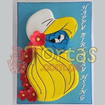 Torta Pitufina especial - Cod:TPU09