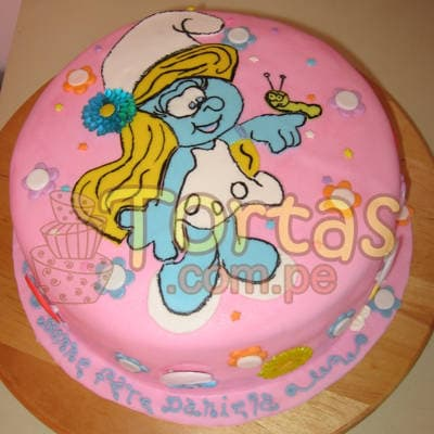 Torta Pitufina grande | Torta Pitufina | Feliz cumpleaños | Tortas | Cumpleaños - Cod:TPU10