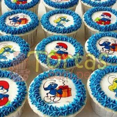 Cupcakes Pitufos - Cod:TPU11