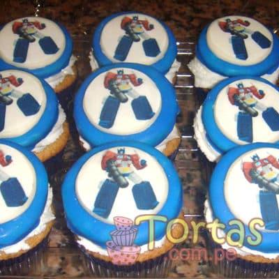 Cupcakes de Tranformers | Pasteles Transformers | Tortas de transformers - Cod:TRF01