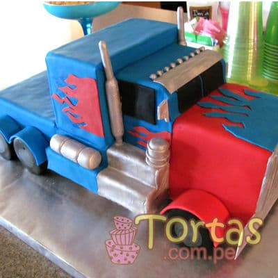 Torta de Optimus Prime - Whatsapp: 980-660044