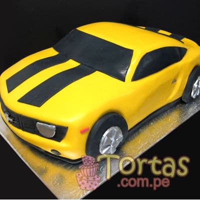 Bumblebee Torta  | Pasteles Transformers | Tortas de transformers - Cod:TRF06