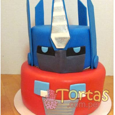 Torta con tema Optimus Prime - Whatsapp: 980-660044