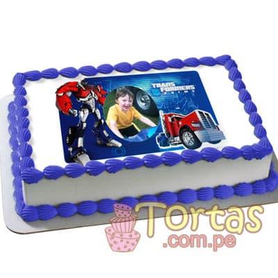 Foto Torta de Tranformers | Pasteles Transformers | Tortas de transformers - Cod:TRF10