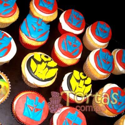 Cupcakes de Tematica Tranformers - Cod:TRF13