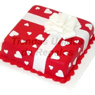 Torta Caja de Regalo - Cod: TRR01 - Envio de Regalos para Enamorados - Regalos Personalizados a Domicilio