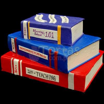 Torta Libros 37 - Cod:TRR37