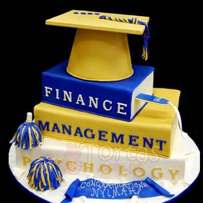 Torta Graducacion 38 | Torta Tematica Graduacion - Cod:TRR38