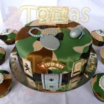 Torta Militar 43 - Cod:TRR43