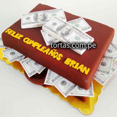 Torta de Billetes | Torta con Billetes | Torta con Dolares - Cod:TRR53