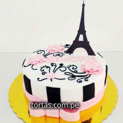 Torta Torre Eiffel | Torta Paris | Torta Francia - Cod:TRR54