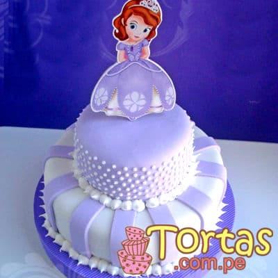 Torta Princesa Sofia 07 - Codigo:TSI07 - Detalles: Deliciosa torta de keke De Vainilla, ba�ado con manjar blanco y forrado con masa el�stica. Primer piso de 20cm de diametro, segundo piso de 15cm de diametro, incluye impresion no comestible segun imagen. - - Para mayores informes llamenos al Telf: 225-5120 o 980-660044.