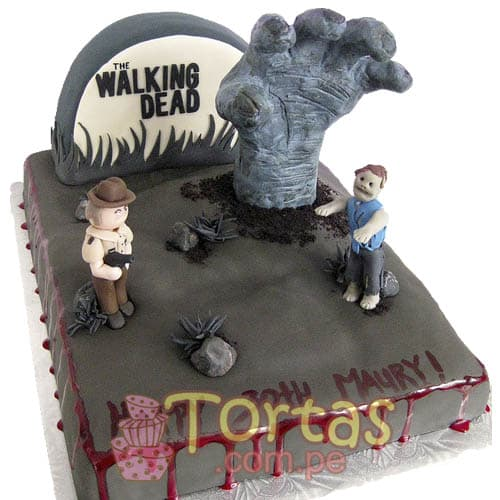 The walking dead Torta rectangular | Walking Dead Cake | Torta de The Walking Dead - Whatsapp: 980-660044