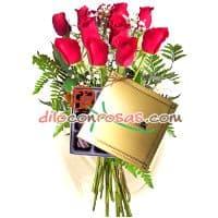 Arreglos de Flores | Rosas con Chocolates  | Florerias en Lima - Cod:VAT05