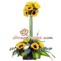 Arreglos de Flores | Topiario de Girasoles | Arreglos de girasoles - Cod:VAT11