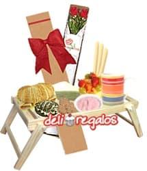 Desayuno en Bandeja para San Valentin | Regalos para San Valentín | Regalos San Valentin - Whatsapp: 980-660044