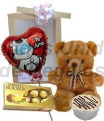 Peluche, Globo y Chocolates para San valentin | Regalos para San Valentín | Regalos San Valentin - Cod:VLN12