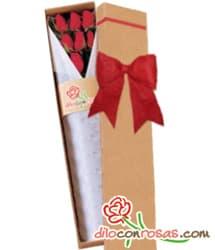 Caja de 6 rosas importadas por el dia de la amistad | Regalos para San Valentín | Regalos San Valent - Cod:VLN28