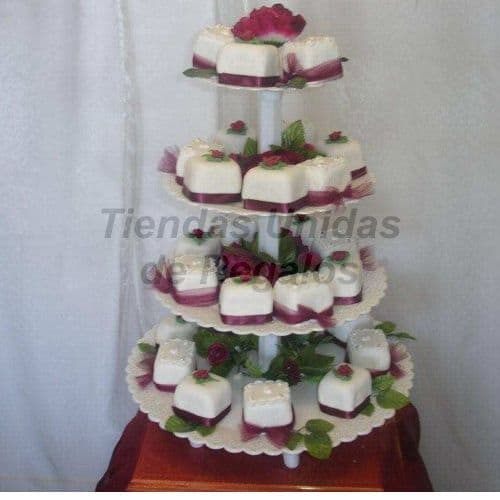 Tortas de Matrimonio Civil | Mini tortas con Flores - Whatsapp: 980-660044