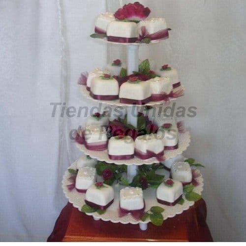 Tortas de Matrimonio Civil | Mini tortas con Flores - Cod:WAM96
