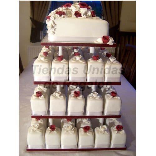 Tortas de Cupcakes | Mini tortas de Matrimonio | Tortas de Matrimonio Civil - Cod:WAM04