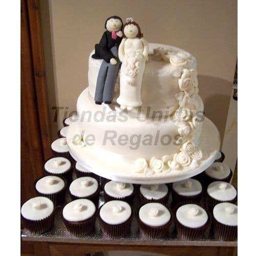 Cupcakes de Tortas | Mini tortas con Novios | Torta de Novios | matrimonio.com.pe - Cod:WAM09