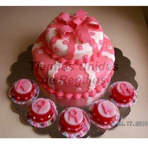 Torta de Novios | Mini tortas con Lazos - Cod:WAM90