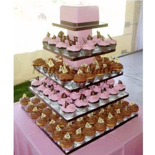 Tortas de Matrimonio | Torta de Cupcakes | Mini tortas para Aniversario - Cod:WAM03