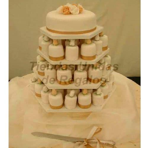 Mini tortas para Boda de Oro | Tortas para Aniversario - Whatsapp: 980-660044