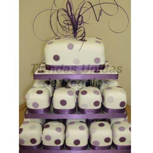 Cupcakes para Matrimonio | Pasteles para Aniversario de Bodas | Mini tortas para Quinceañera - Cod:WAM64