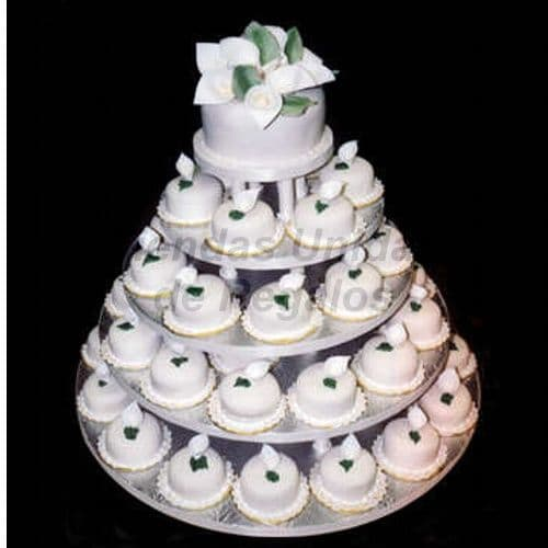 Mini Tortas | Torta de Matrimonio | Mini tortas blancas - Cod:WAM72