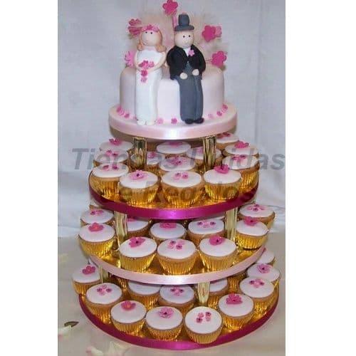 Mini tortas de cumpleaños | Mini tortas con 2 Novios - Cod:WAM74