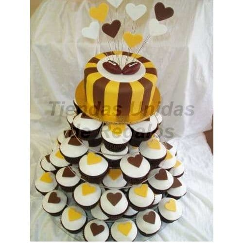 Tortas Grandes | Matrimonios.com.pe | Mini tortas con corazones - Cod:WAM79