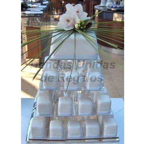 Tortas de Muffins | Mini tortas para Boda | Tortas de Boda - Cod:WAM02