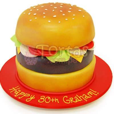 Torta en forma de Sandwich - Cod:WAS12