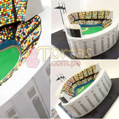 Torta en forma de Estadio - Whatsapp: 980-660044