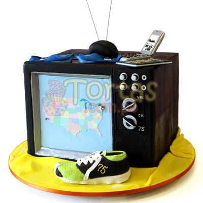 Torta Televisor | Torta con tema de Televisor - Whatsapp: 980-660044