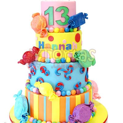 Torta Caramelos | Torta de Caramelos - Whatsapp: 980-660044