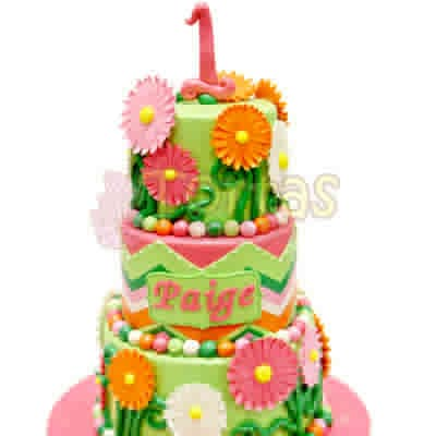 Torta con Flores de azucar - Cod:WAS24