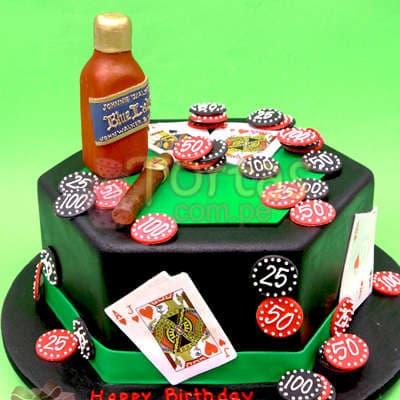 Torta Casino con Whisky - Cod:WAS25